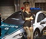 Polis arabası park et hd